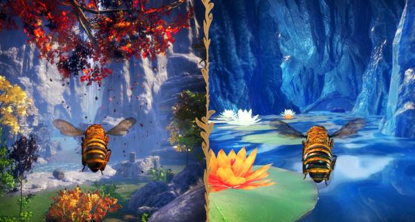 Bee Simulator split screen