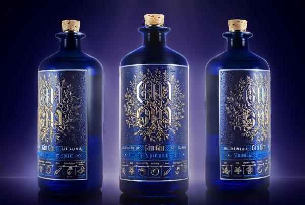 Gin Gin slovenský gin, nápoje
