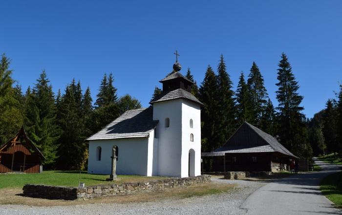 Skanzen vo Vychylovke, kostol zo Zborova nad Bystricou (copyright)