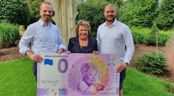 Bohdalová na 0 eurovej bankovke